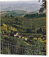 A Day In Tuscany Wood Print