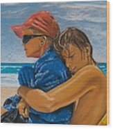 A Day On The Beach Wood Print