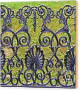 A Decorative Iron Seat Wood Print