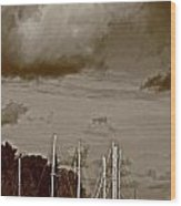 A Delta Storm  Wood Print by Joseph Coulombe