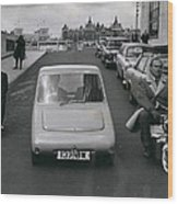 A Demonstration Of Electric Vehicle In London Wood Print