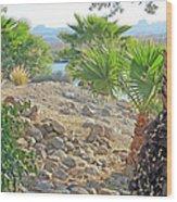 A Desert Landscape Wood Print