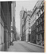 A Deserted Wall Street Wood Print
