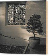 A Detail At The Lan Su Chinese Garden Wood Print