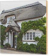 A Devonshire Cottage Wood Print