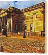 A Digitally Converted Painting Of The Walker Art Gallery In Liverpool Uk Wood Print