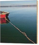 A Dinghy On A Calm Sea, Port Clinton Wood Print