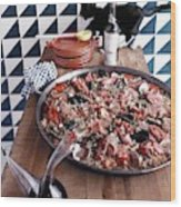 A Dish Of Paella Wood Print