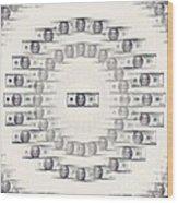 A Dizzying Amount Of Money Wood Print
