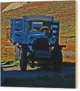 A Dodge In Bodie Wood Print
