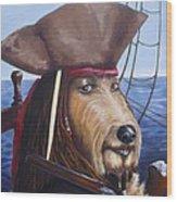 A Doodle On The High Seas Wood Print