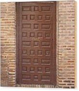 A Door In Toledo Wood Print