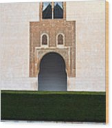 A Door On The Court Of The Myrtles Wood Print