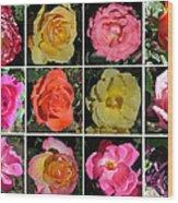A Dozen Roses Wood Print