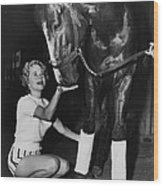 A Dragon Killer Horse Racing Vintage Wood Print