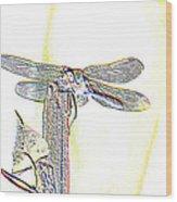 A Dragonfly In My Dreams Wood Print