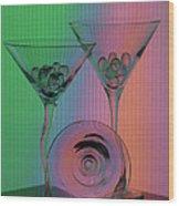 A Dry Martini Wood Print