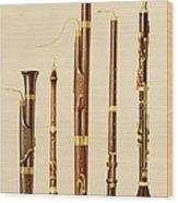 A Dulcian, An Oboe, A Bassoon Wood Print