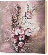 A Dusty Rose Bouquet Wood Print
