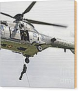 A Eurocopter As332 Super Puma Wood Print