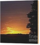 A Fading Sunset Wood Print by Steven Valkenberg
