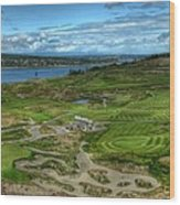 A Fairway To Heaven - Chambers Bay Golf Course Wood Print