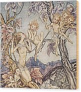 A Fairy Song From A Midsummer Nights Dream Wood Print