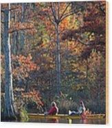 A Fall Fishing Trip Wood Print