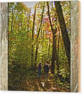 A Fall Walk With My Best Friend Wood Print