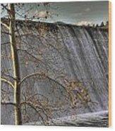 A Fall Waterfall Wood Print