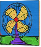 A Fan Of Color Wood Print