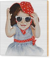A Fashion Girl  Wood Print