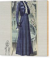 A Fashionable French Lady Wood Print