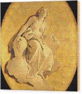 A Female Allegorical Figure Wood Print