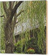 A Few Red Flowers Wood Print
