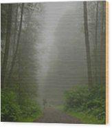 A Few Steps Into The Mist Wood Print