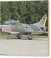 A Fiat G-91 Fighter Plane Of The German Wood Print