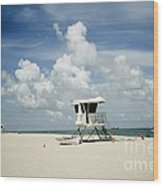 A Fine Day At The Beach Wood Print