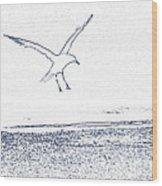 A Fine Flight Wood Print