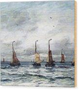 A Fishing Fleet Wood Print