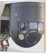 A Flir Camera Mounted On An Eh101 Wood Print