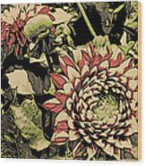 A Floral View Wood Print