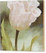 One Beautiful Flower Impressionism Wood Print