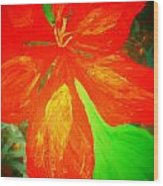 A Flower For Love Wood Print