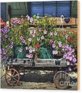 A Flower Wagon Wood Print