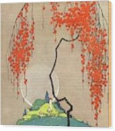A Flowering Tree Wood Print