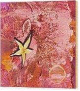 A Flying Star Flower Wood Print