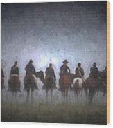 A Foggy Gettysburg Morning - Oil Wood Print