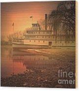 A Foggy Sunrise Wood Print