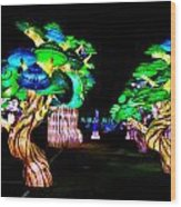 A Forest Of Lanterns Wood Print